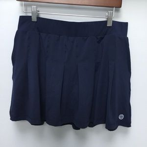 NWT Tory Burch Sport Navy Pleated Jersey Skirt